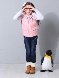 POOK朋库一代童装粉色马夹