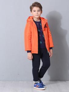 POOK朋库一代童装橙黄色外套