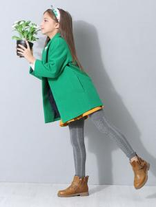 POOK朋库一代童装绿色大衣
