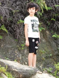 帕纳摩亚童装白色印花T恤