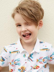 小猪班纳男童17夏新款polo衫