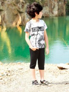 帕纳摩亚童装水墨画T恤