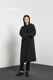 GYWJ己以女装2017春款长款简约外套