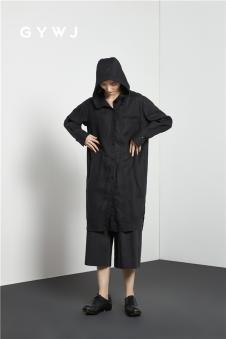 GYWJ己以2017春款黑色休闲外套