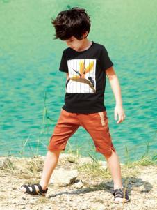 帕纳摩亚童装黑色T恤