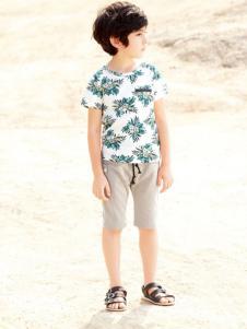 帕纳摩亚童装圆领T恤