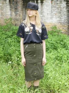 BABY MARY军绿色短裙