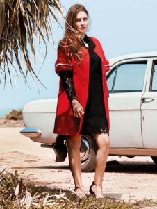 QZMEI芊之美女装红色中袖外套