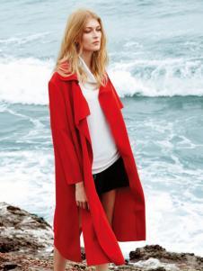 QZMEI芊之美女装红色开衩外套