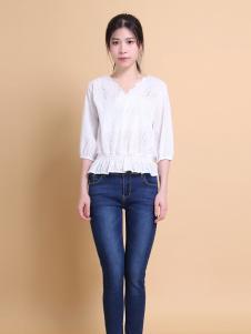 37度love白色T恤