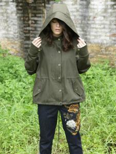 BABY MARY新品军绿色外套