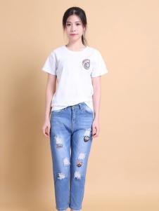 37度love女装春夏白色T恤