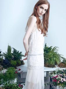 红贝缇2017春夏新款蕾丝连衣裙