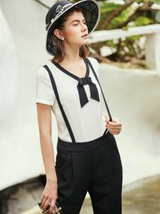 千百惠2017春夏新品背带裤