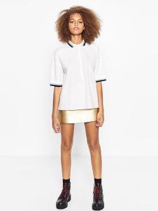波可诺新款白色T恤