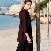 春暖花开时节 WJS唯简尚棉麻连衣裙给予你想要的文艺情怀!