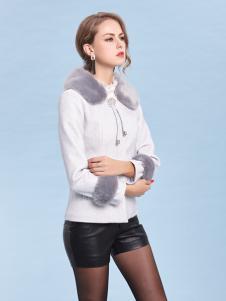 丹妮丽人时尚白色浪漫外套