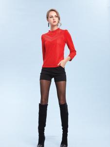 丹妮丽人红色时尚打底衫