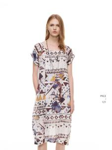 主提印花时尚连衣裙