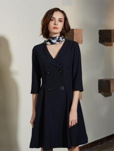 今日主播黑色时尚连衣裙