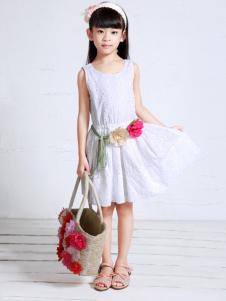 裘帛童装纯色连衣裙