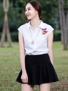 晴迷桂莉女装黑色半裙