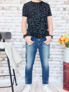 REDU热度2017春夏新品字母印花T恤
