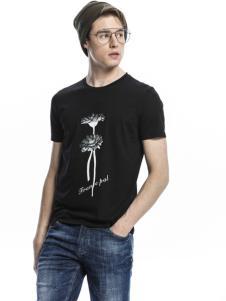 诺奇男士黑色T恤