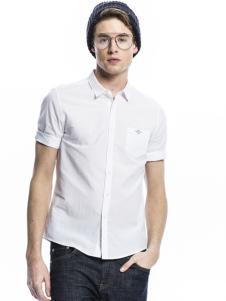 诺奇男士白色修身衬衫