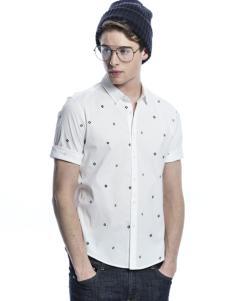 诺奇男士白色衬衫