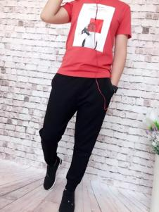 REDU热度2017春夏新品红色T恤