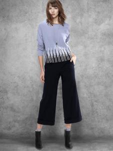 Chaber巧帛女装黑色阔腿裤