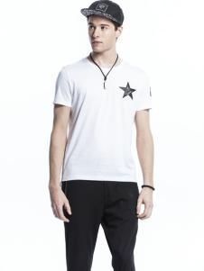 诺奇男士白色新款T恤