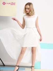 容悦2017春夏新品白色包臀裙