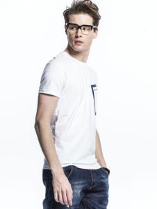 诺奇新款白色T恤
