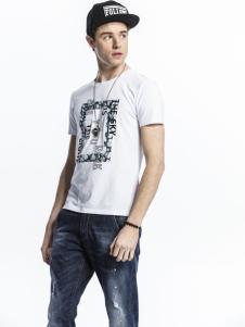 诺奇男士白色T恤