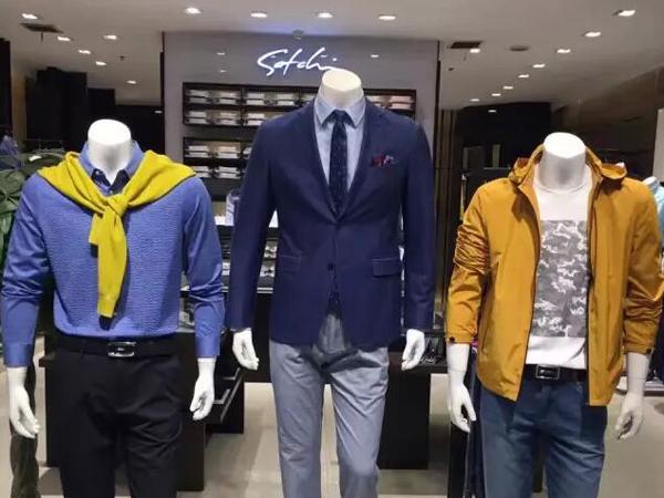沙驰品牌男装终端实体展示