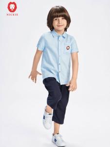 NICKIE淡蓝色衬衫