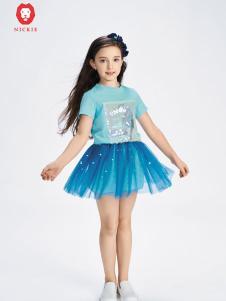 NICKIE蓝色时尚连衣裙