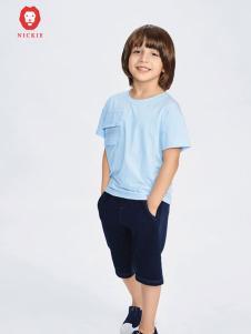 NICKIE蓝色时尚T恤新款