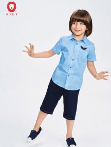 NICKIE童装蓝色衬衫