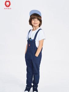 NICKIE蓝色时尚背带裤
