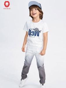 NICKIE白色时尚T恤