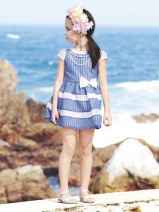 salman森门童装条纹裙