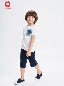 NICKIE童装白色简约T恤