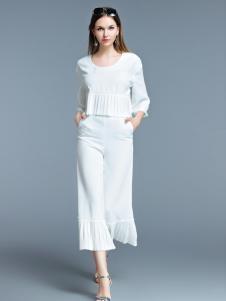 艾丽哲2017春夏白色半身裙