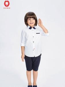NICKIE白色简约衬衫