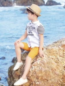 salman森门童装短袖衬衫