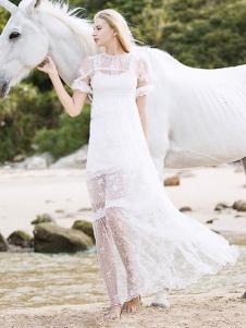 璱妠女装白色长裙