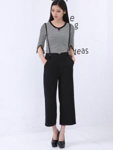 尚可斯女装尚可斯2017春夏新品吊带休闲裤